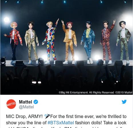 Mattel przedstawia lalki BTS